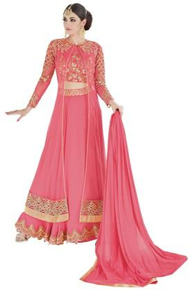 DEMARCAWomens Georgette Dress Material - 203984127_9557