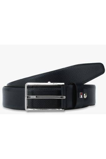 3782377b1c13 Buy TOMMY HILFIGER Mens Leather Buckle Closure Formal Belt ...