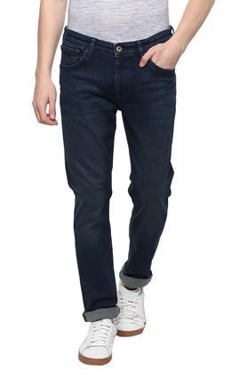 Mens Slim Fit 5 Pocket Rinse Wash Jeans