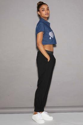 Women Crop Top With Heart Patch