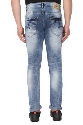 Mens Skinny Fit 5 Pocket Distressed Jeans