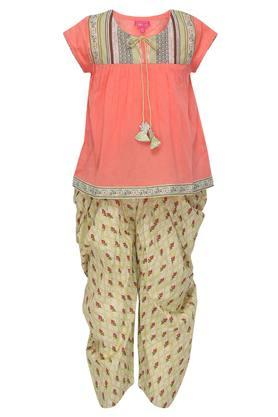 ade1e2c76a Buy Biba Girls Layered Dress And Kids Lehenga Set Online