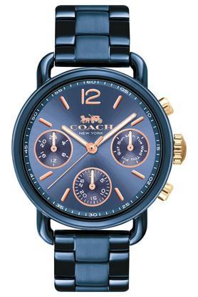 COACHWomens Chronograph Delancey Sport Ionic Plated Blue Steel Watch - 14502842