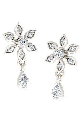 SILVER IMPRESSION Sparkles 18 Kt 0.1 Cts Diamond Earrings - T12365