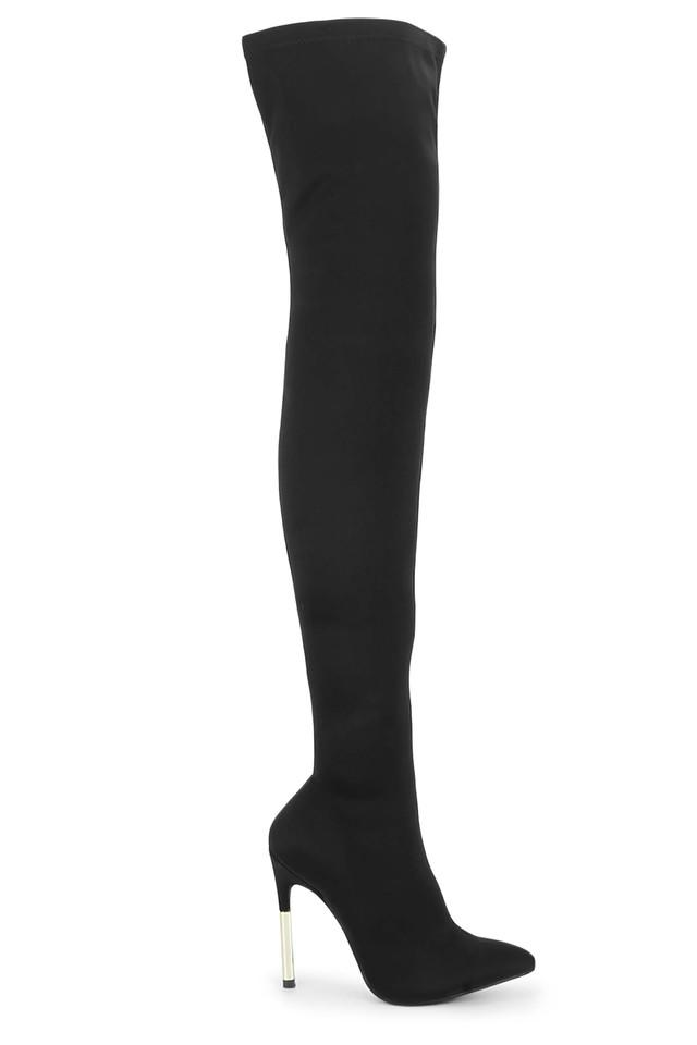 Womens Party Wear Zipper Closure Thigh High Boots