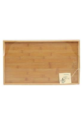Rectangular Bamboo Tray with Handles