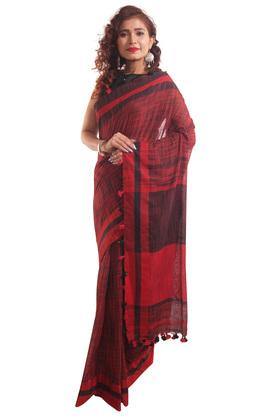 HAST VASTRA Womens Textured Saree With Blouse