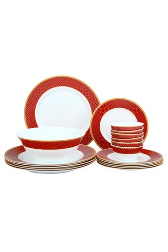 Round Printed Regent Dinner Set of 19