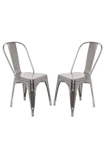 Silver Stylo Chairs Set of 2