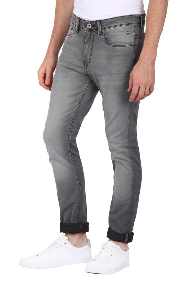 Mens 5 Pocket Rinse Wash Jeans (Albert Fit)