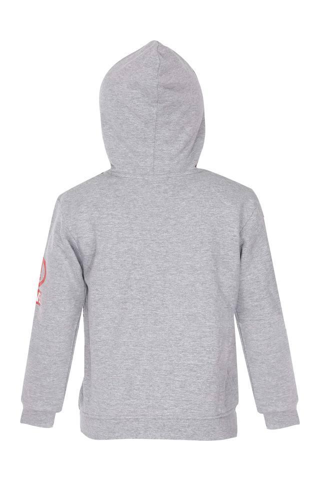 Boys Hooded Printed Sweatshirt