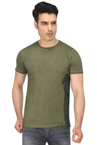 SINGLE -  Olive T-Shirts & Polos - Main