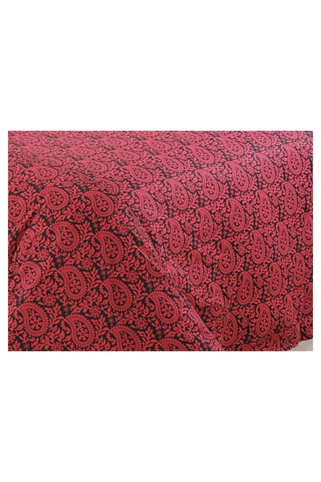 Wine and Black Motifs Double AC Comfortor