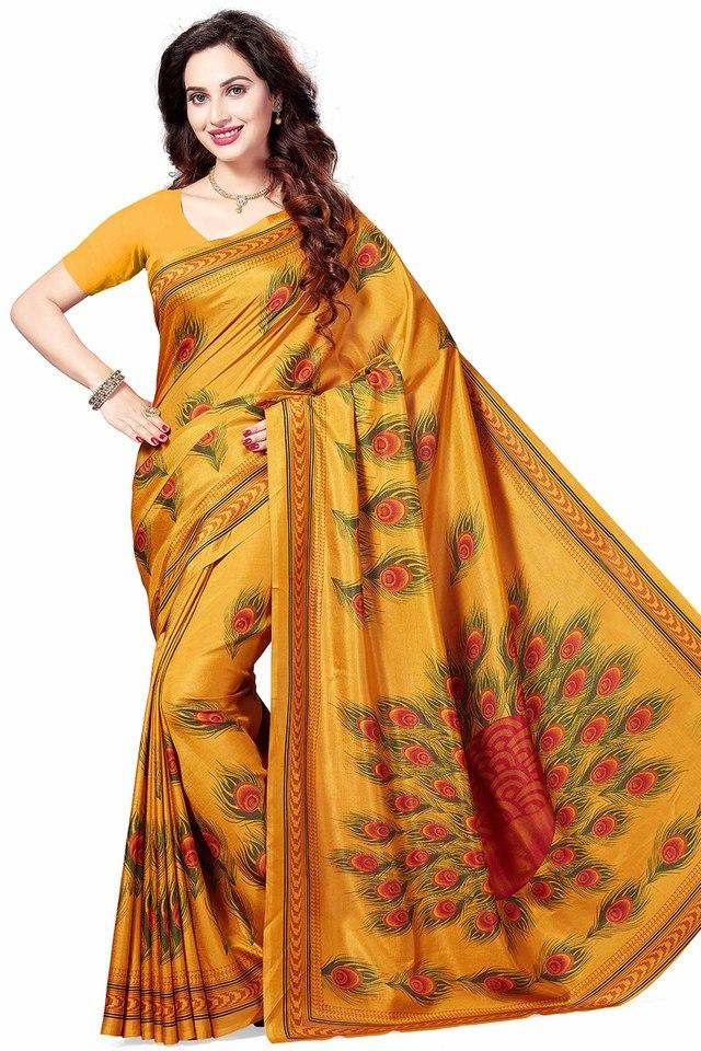 Womens Printed Art Silk Saree