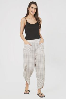 Womens Comfort Fit Checked Lounge Pants