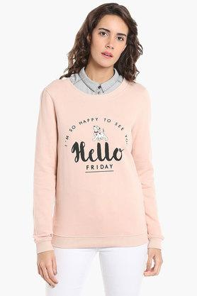 VERO MODA Womens Round Neck Printed Sweatshirt - 202988379