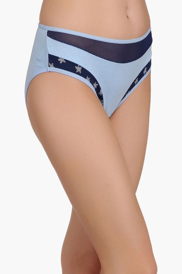 Womens Mid Waist Solid Bikini Briefs