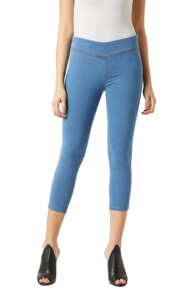 Womens Skinny Fit Rinse Wash Jeggings