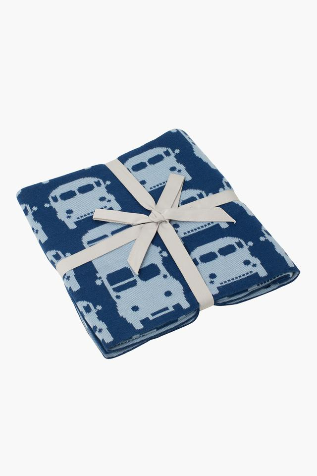 Buses & Cars Knitted Baby Blanket