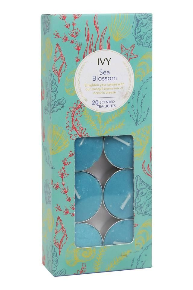 Sea Blossoms Tea Light Candles Pack of 20