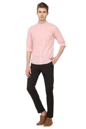 Mens Regular Fit Slub Casual Shirt