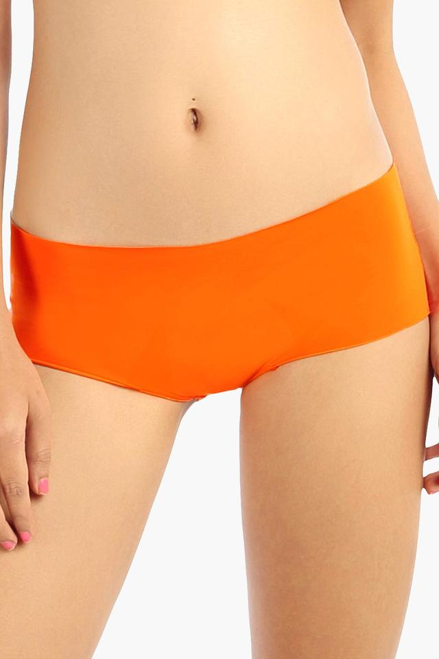 Womens High Rise Solid Hipster Briefs