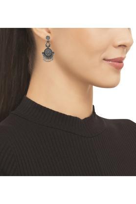 Womens Ethnic Silver Plated Dangler Earrings
