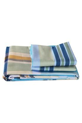 Checked Double Bedsheet with 2 Pillow Covers