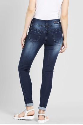 Womens 5 Pocket Ice Wash Jeans