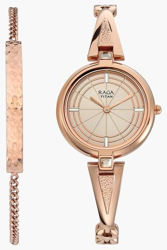 Raga Espana Rose Gold Dial Metal Strap Watch 2581wm01f