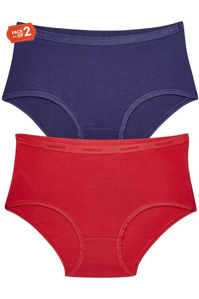 Womens Solid Hipster Briefs Pack of 2