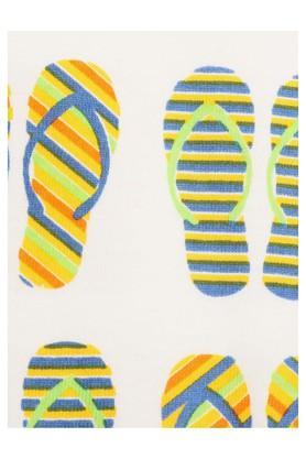 Unisex Envelope Neck Printed Bodysuit