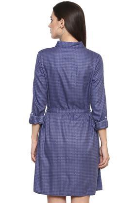 Womens Printed Shirt Dress