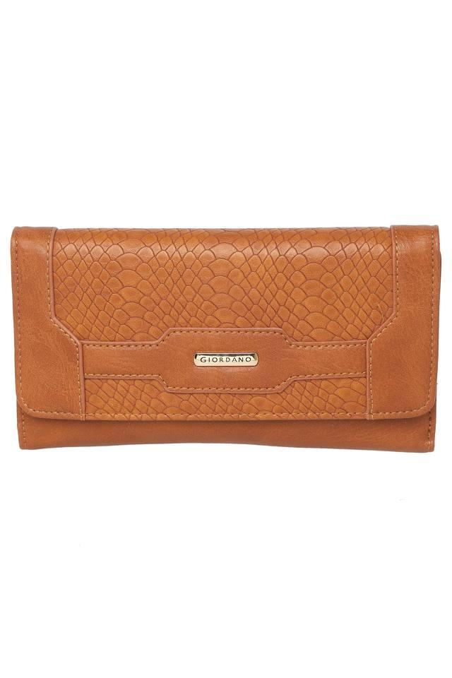 Womens Button Closure 2 Fold Wallet