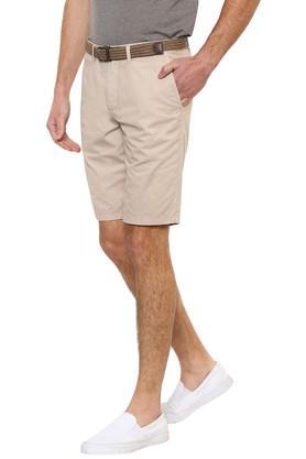 Mens Regular Fit 5 Pocket Solid Shorts