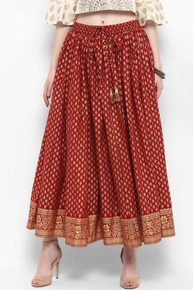 VARANGA Womens Printed Long Skirt - 204886225_9607