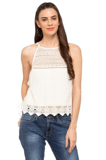 Womens Spaghetti Neck Lace Top