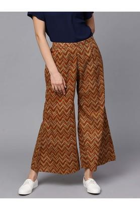 Women Cotton Printed Palazzo With Both Side Pockets