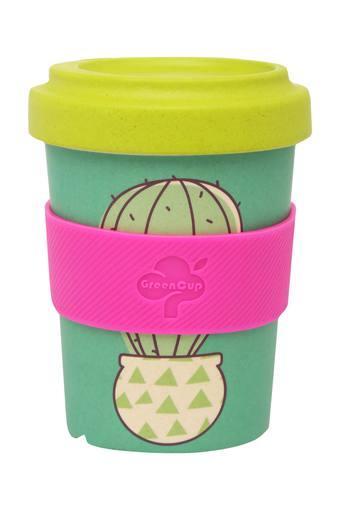 Round Cactus Printed Travel Mug with Lid