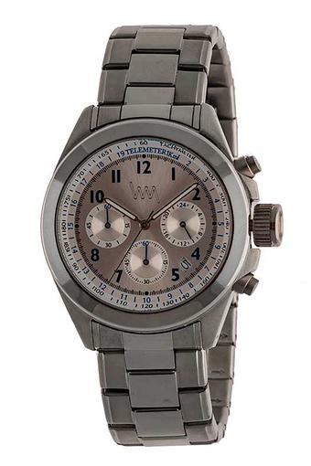 Mens Grey Dial Stainless Steel Chronograph Watch - LWM132C