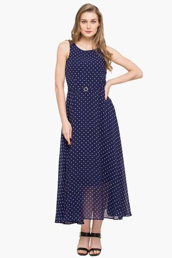 9f76d2a26ece Buy LATIN QUARTERS Womens Round Neck Printed Maxi Dress | Shoppers Stop