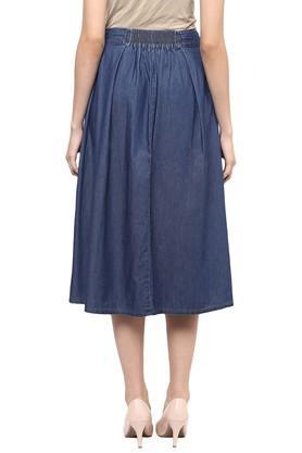 Womens Knee Length Solid Skirt