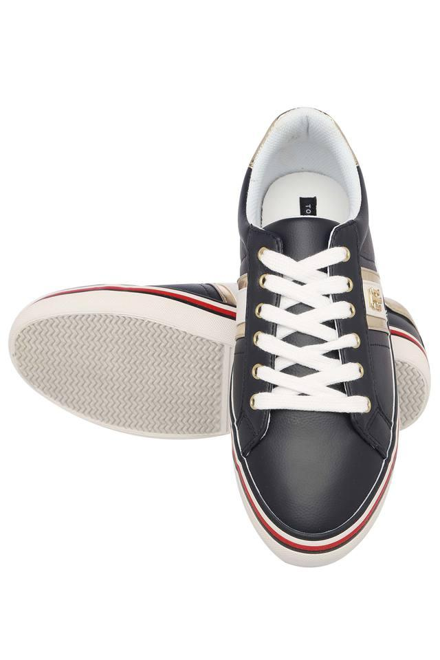 Womens Synthetic Leather Lace Up Casual Shoes