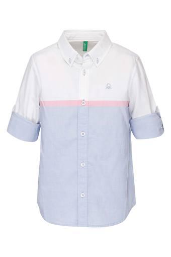 1cfa6fb2f Buy UNITED COLORS OF BENETTON Boys Collared Solid Shirt