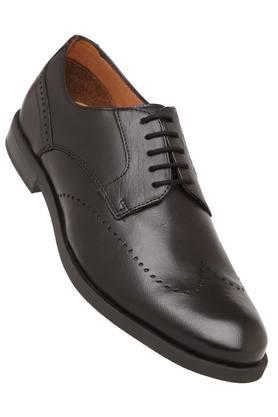 VENTURINI Mens Leather Lace Up Derbys - 204000283_9212