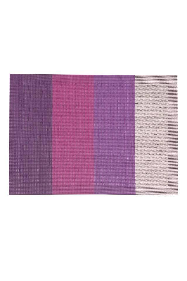 Woven Color Block Table Mat - Set Of 6