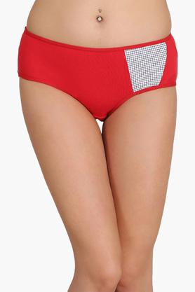 Womens Low Waist Chequered Hipster Briefs