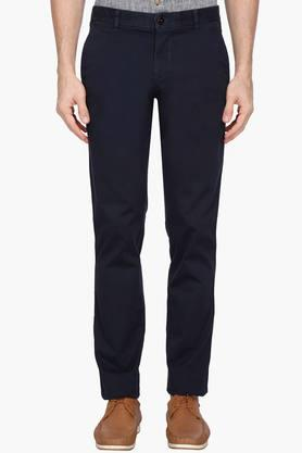 LOUIS PHILIPPE SPORTS Mens 4 Pocket Solid Chinos - 203146871