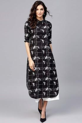 Womens Printed Casual Kurta