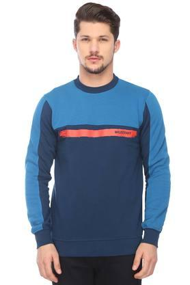 WILDCRAFT Mens Round Neck Colour Block Sweatshirt